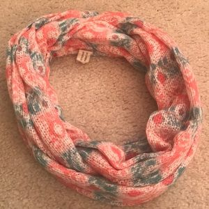 Pink, Blue, & White Infinity Scarf